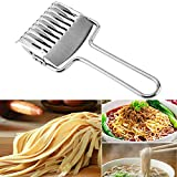 Noodle Cutter Stainless Steel Pasta Spaghetti Maker Noodle Lattice Roller Docker Dough Cutter Mincer Kitchen Tool
