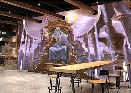 XZCWWH Custom Photo 3D Room Wallpaper Mural Western Greek Mythology Temple Of Painting 3D Wall Murals Wallpaper,400cm(W)×280cm(H)