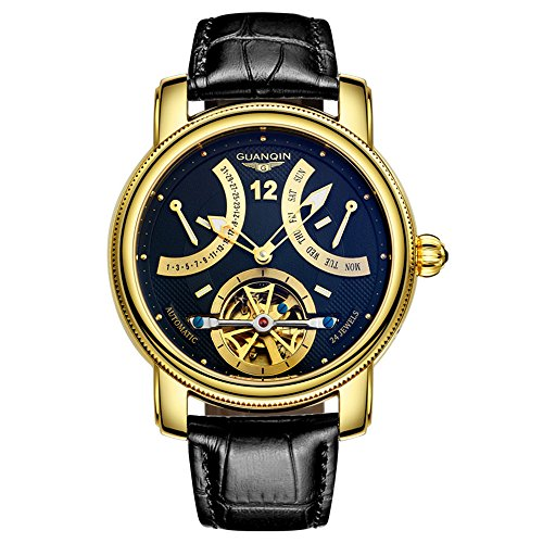 Guanqin Reloj analógico automático para hombre con correa