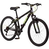 Mongoose 24' Excursion Boys' Mountain Bike, Black/Green