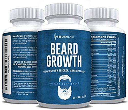 Beard Growth Supplement with Vitamins for a...