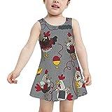 RQKTAKEJOK Bañadores Chicken Knitted Sweater Traje de baño para niñas pequeñas Vestido de baño de Secado rápido El Traje de baño es Adecuado para niñas de 2 a 6 años