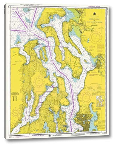 Nautical Chart - Admiralty Inlet and Puget Sound to Seattle ca. 1975 by NOAA Historical Map and Chart Collection - 16