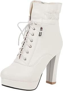 KemeKiss Fashion Women Martin Booties with High Heels