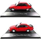 OPO 10 - Lote de 2 Autos 1/43: Compatible con Renault 11 + Fuego GTA MAX / R11 (AQV1 + 11)