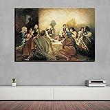 SADHAF HD Print Last Supper Canvas Poster Decoración para el hogar Pintura abstracta religiosa Diseño de arte Decoración de la habitación A6 70X100cm