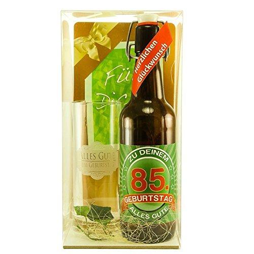 Bier Geschenk zum 85.Geburtstag Geburtstagsgeschenk fünfundachtzigster Geburtstag Bier Geschenkset zum 85. Geburtstag