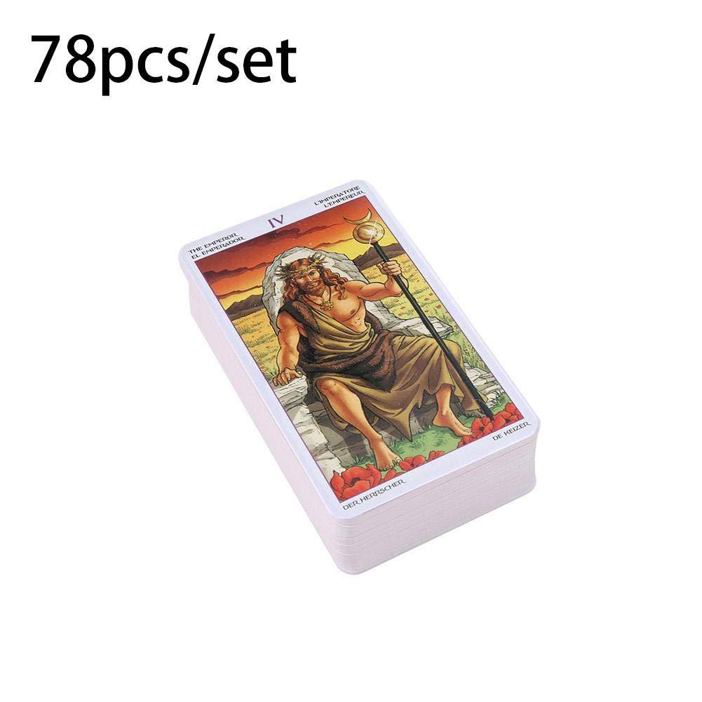 Juego de mesa mysticall: 78 cartas del tarot Rueda de mazo del año Leer Destino - Tarjeta de Tarot con caja de color para niños Hombres Mujeres: Amazon.es: Hogar