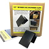1/2 Inch Hurricane Plywood Clips to Shutter Windows, Spring Grade Carbon Steel -...