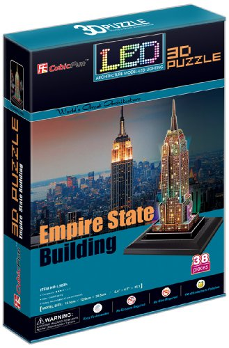 CubicFun Empire State Building New York USA LED 3D Puzzle