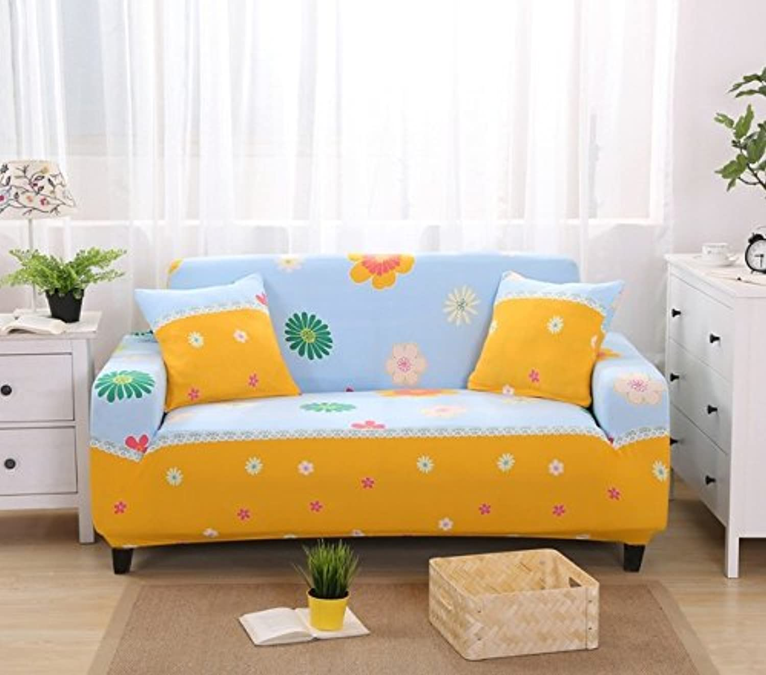Farmerly Slipcovers Sofa Cover Tight wrap All-Inclusive Slip-Resistant sectional Elastic Full Sofa Cover Towel Single Two Three Four-seat   15, 1 Seater 90-140cm