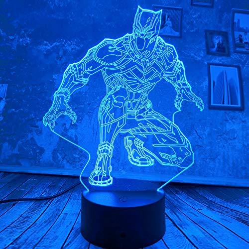 Lámpara LED de ilusión 3D de luz nocturna con tres patrones y 7 colores cambian las lámparas de decoración con control remoto, regalo perfecto para niños y adultos