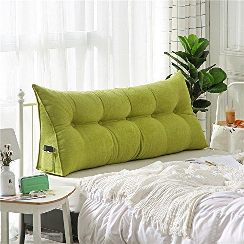 Polstermöbel Dreieckiger keil kissen, -sofa-bett kissen Sitzkissen Bettruhe Lesen kopfkissen Rückenlehne positionierung support pillow,Lumbale pad für büro-bett-sofa-Grün 20x50x100cm(8x20x39inch)