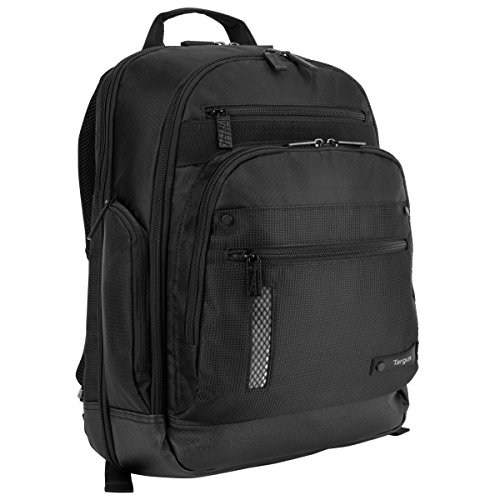 Targus Revolution Travel and Checkpoint-Friendly Laptop Backpack with Protective Sleeve for 14-Inch Laptop and Felted Phone Pocket, Black (TEB012US)