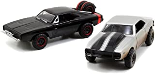 Jada Toys Fast & Furious 1:32 Twin Pack - '67 Chevy Camaro Off Road, '70 Dodge R/T Off Road, Silver/Black