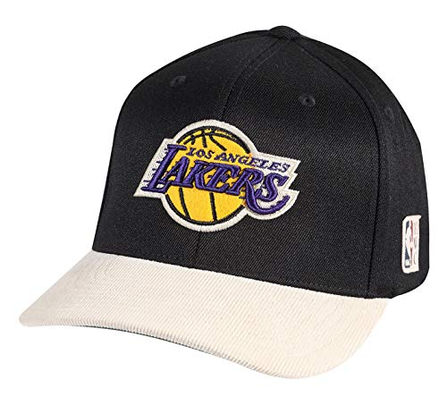 Mitchell & Ness HWC Curved Snapback – Cord – L.A. Lakers, nero