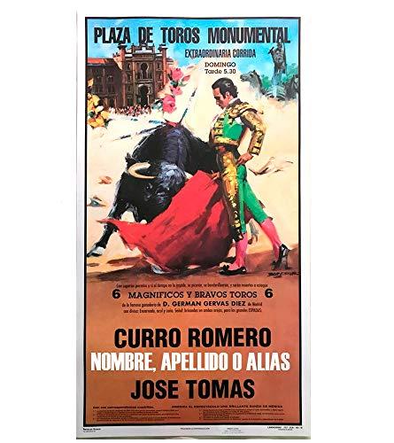 Cartel de toros con un nombre personalizable - Curro R. / José Tomás