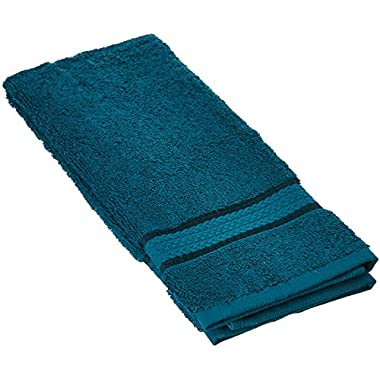 Cotton Craft Ultra Soft 6 Pack Hand Towels 16x28 Teal weighs 6 Ounces each - 100% Pure Ringspun Cotton - Luxurious Rayon trim - Ideal for everyday use - Easy care machine wash