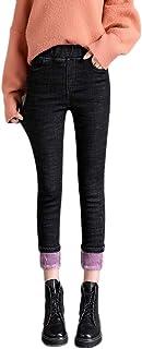 GELing Jeggings de Mezclilla de Vellón Térmico Pantalones de Mezclilla para Mujer Leggings Casual Térmicos Forro Polar Cóm...