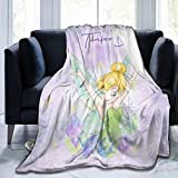 Tinker Bell Purple Blanket Plush Throw Ultra Soft Premium Fluffy Flannel All Season Light Weight Sofa Couch Throw Living Room/Bedroom Warm Blanket 60'X50'