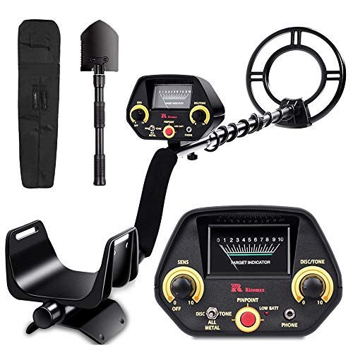 RM RICOMAX Metal Detector for Adults & Kids - High-Accuracy, View Meter, Four Detection Modes...