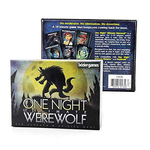 AIU One Night Ultimate Werewolf, Brettspiel Werwölfe Vollmondnacht Kartenspiel für Familien Party Geburtstagsfeiern (English Version)