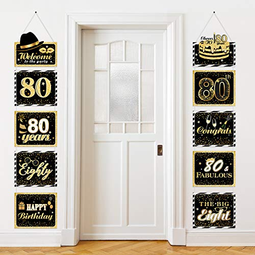 Black and Gold Welcome Banner (Set of 2)