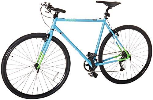 Retrospec Bicycles AMOK V2 CycloCross Nine-Speed/Commuter Bike with Chromoly Frame, Hi-Vis Blue, 50cm/Small