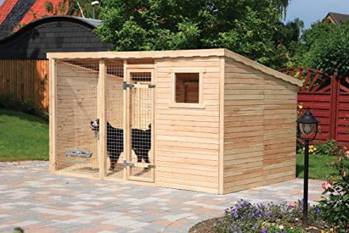 Promadino Hundezwinger mit Pultdach und Fußboden