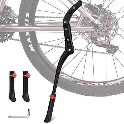 Migimi Fahrradständer, Seitenständer Höhenverstellbarer Aluminiumlegierung 24-29 Zoll Universal Fahrradständer mit Anti-Rutsch Gummifuß für Mountainbike, Rennrad, Fahrräder und Klapprad