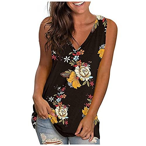 N\P Verano de las mujeres de verano casual cuello en V manga superior