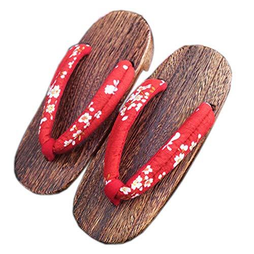 Fancy Pumpkin Scarpe tradizionali giapponesi Cosplay Pantofole di legno Clog Geta sandali per le donne, B-12