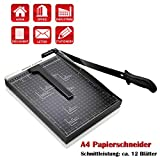 """Paper Trimmer, 12"""" Metal Base A4 Paper Cutter Guillotine for Home Office, 10"""