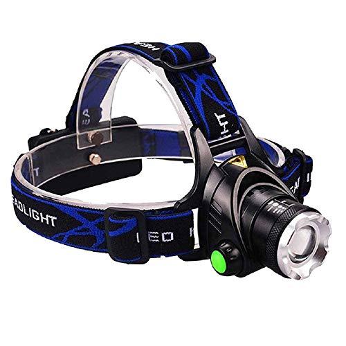 RHG LED-Scheinwerfer mit Starkem Licht Der Drehbare Und Zoombare Fernscheinwerfer zum Laufen/Gehen/Radfahren/Angeln/Camping Auflädt