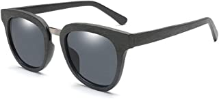 Songlin@yuan Men's Polarized Sunglasses Fashion New Trends Wooden Handmade Classic Square Retro Panel Sunglasses Suitable for Unisex (Color : Gray)