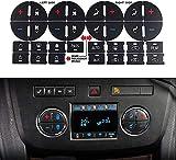 WASTOREEL AC Dash Button Decal Stickers Fit for Chevrolet GMC Tahoe Yukon Acadia Sierra 2007-2015, 2pcs