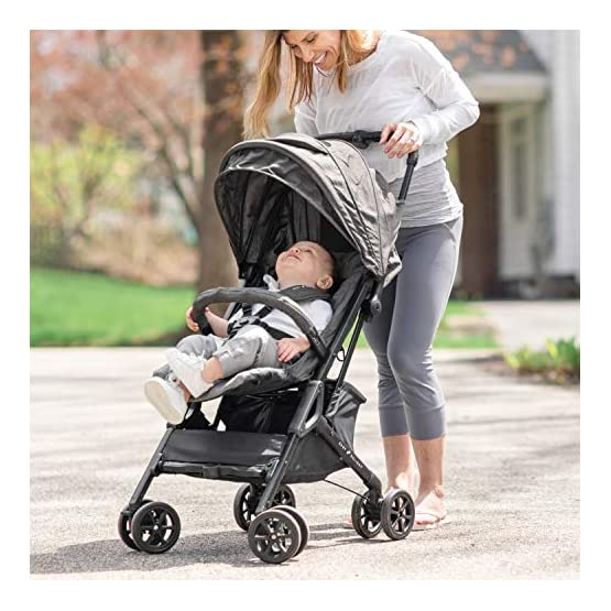 Baby Delight Go with Me Dart Ultra-Compact Stroller(BD05340), Charcoal Tweed