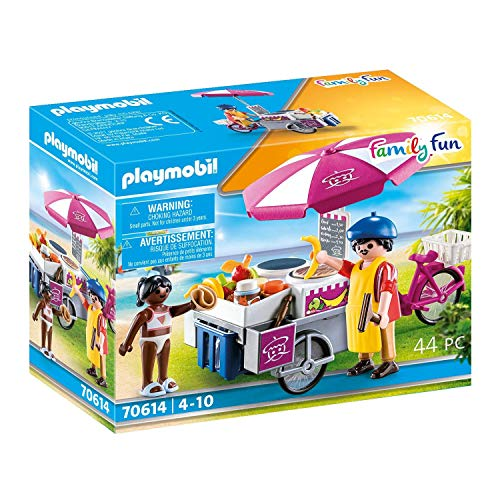 PLAYMOBIL Family Fun 70614 - Tienda de Crepes portátil a Partir de 4 años