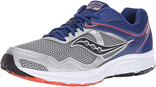 Saucony Men's Cohesion 10 Running Shoe, Silver Blue, 12 M US