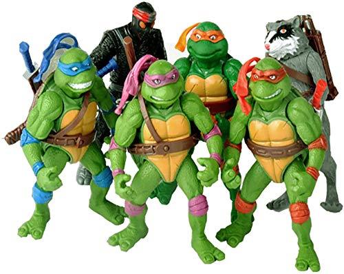 Ninja Turtles 6PCS Ninja Turtles Action Figures , TMNT Action Doll-Mutants, Leonardo, Raphael, Michelangelo, Donatello
