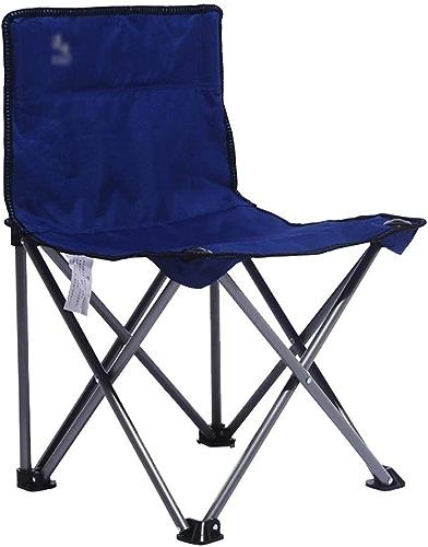 Mempers Tuyau d'acier avec Chaise Pliante extérieure de Dossier, Tabouret Simple de pêche de Plage de Camping de Loisirs, siège Multifonctionnel portatif de Voyage