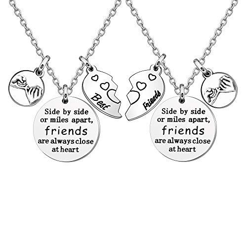 Freundschafts-Halskette, Geschenk für beste Freunde, Freundschaftsgeschenke, Frauen, Halsketten für Frauen und Mädchen