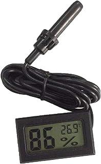 Mini Digital LCD Thermomètre Hygromètre Humidité Température Mètre Intérieur (Noir)