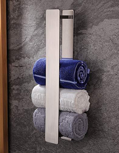 ZUNTO Handtuchhalter Ohne Bohren Gästehandtuchhalter 40cm Bad Handtuchstange Selbstklebend Edelstahl, Verbreitert