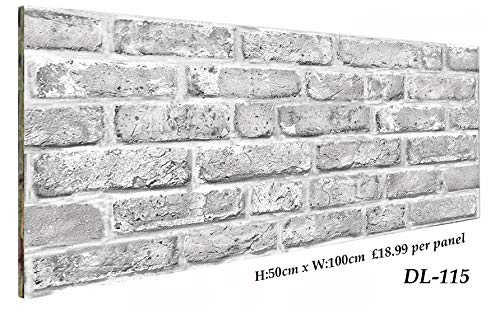 3D Brick Effect Wall Panel Polystyrene DL-115 Luxury Wall Panel 50x100cm