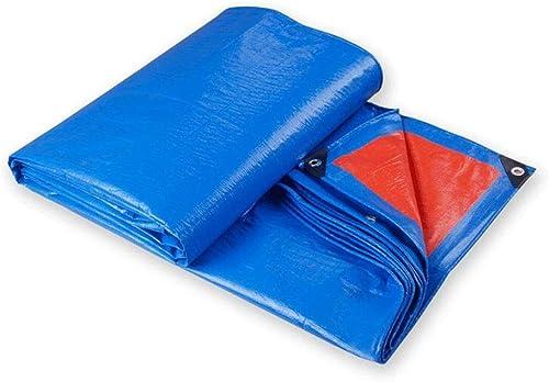 CJC Voiles d'ombrage Bache Imperméable Renforcé Rip-Stop avec Oeillets pour Bache Tente à Baldaquin, Bateau, Couverture De Piscine Polyvalent (Couleur   bleu, Taille   4x8m)