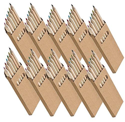 Libetui 10 Sets Buntstifte Malsets für Kinder Gastgeschenke Mitgebsel für Kinderparty Geburtstag (Buntstifte)