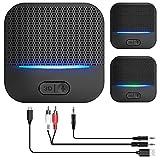 Bluetooth Empfänger 5.0, HiFi-Audioadapter, 3.5 m AUX Adapter Audio Klinke, Receiver 3D-Soundeffekt...