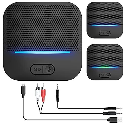 Bluetooth Empfänger 5.0, HiFi-Audioadapter, 3.5 m AUX Adapter Audio Klinke, Receiver 3D-Soundeffekt mit Low Latency 20 Stunden Spielzeit 50m Reichweit für Heimmusik-Streaming-Stereoanlage