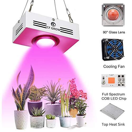 COB LED Pflanzenlampe Vollspektrum150W Pflanzenlicht LED Wachstumslampe Rot&Blau CFGROW Pflanzenleuchte für Zimmerpflanzen Mini Größe Hoher PAR Ausgang